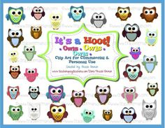 Mrs. Orman's Classroom: It's a Hoot! Super Cute Owl Clip Art for Commercial Use