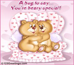 A Hug To Say... You're Beary Special! Free Hugs eCards, Greeting ...