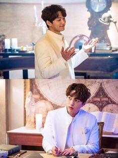 """KBS's upcoming Wednesday-Thursday drama """"Angel's Last Mission: Love"""" has shared new stills of INFINITE's L as he struggles to complete his mission. Drama Korea, Korean Drama, Kdrama, L Infinite, Kim Myung Soo, Myungsoo, Fantasy Romance, Angel S, Woollim Entertainment"""