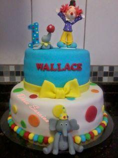 ARTES COM AÇÚCAR: Bolo do aniversário do palhacinho Wallace