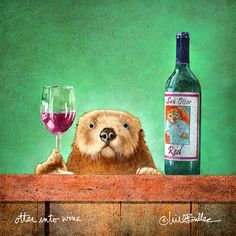 """Artifacts Gallery - Otter into Wine (Metal)<br><FONT COLOR=""""red"""">New!</FONT>"""