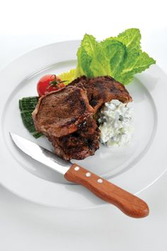 If you're looking for a refreshing side to your grilled rib eye, why not try this Ontario greenhouse cucumber slaw recipe featuring yogurt and dill. Cucumber Slaw Recipe, Ontario, Essex County, Filets, What's Cooking, What To Cook, Chipotle, Steak, Beef