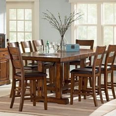 Lowest price online on all Steve Silver Company Zappa Counter Height Dining Table - ZP550PT