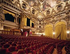 MONACO - MARCH 04:  The Salle Garnier of the Opera in Monte-Carlo with the decorations,1878-1879. Principality of Monaco, 19th century. (Photo by DeAgostini/Getty Images) via @AOL_Lifestyle Read more: https://www.aol.com/article/news/2017/04/04/the-worlds-most-beautiful-theaters/22025435/?a_dgi=aolshare_pinterest#fullscreen