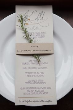 Photography: Sequins and Candy; Entice Your Guests with These Lovely Wedding Menu Stationery Ideas