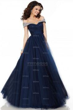 navy blue Floral prom dresses cap sleeves  Formal dresses Sleeve ...