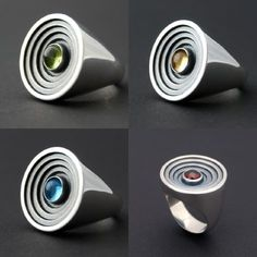 The Arena - sterling silver ring with cabochon