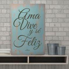 Cuadros de madera con frases Vive Ama y se Feliz blanco Vintage Frases, Coco Van, Holidays And Events, Ideas Para, Decoupage, Stencils, Graffiti, Diy And Crafts, New Homes