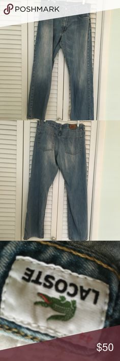 Lacoste jeans Mens Lacoste jeans.  Color Blue light wash. Size 44( 34) perfect condition Lacoste Jeans Relaxed