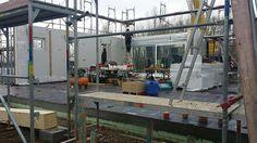 Aufbau Erdgeschoss #OKALHausinLeipzig #NeubauMusterhaus #KfWEffizienz40Plus #Leipzig