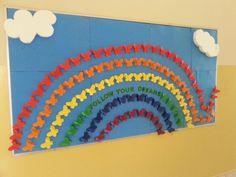 Rainbow butterfly school board :)