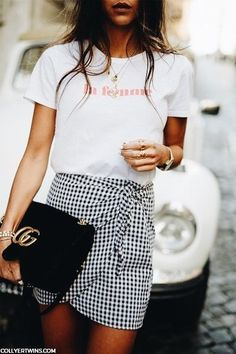 Love t-shirt and skirt combos