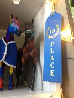 Harley and Puzzle with my first place ribbon