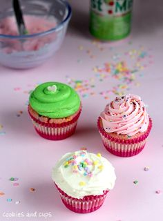 {soda pop + cake mix cupcakes} crazy! must try it.