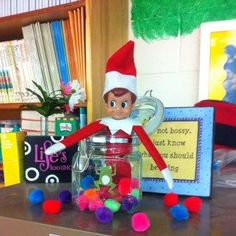 Frosty:  This little elf enjoys being in the classroom.  VOTE for your favorite photos in our Elf on the Shelf photo contest or enter your own elf photo for a chance to WIN Great Prizes at www.facebook.com/CoppinsHallmark