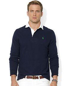 Polo Ralph Lauren Shirt, Long-Sleeve Fleece Rugby