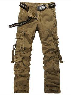 Multi Pocket Military Pants for Men 4 colors Free Shipping