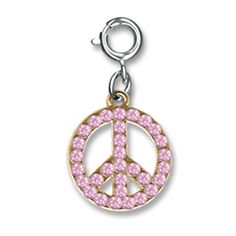 Pink Peace Charm by Charm It!
