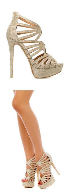 Metallic cage heels