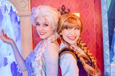 Meet the Elsa and Anna Face Characters at Disney World. (Kristoff, Sven and Olaf, too, if possible)