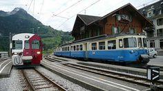 Swiss Railways, Lake Geneva, Europe, Switzerland