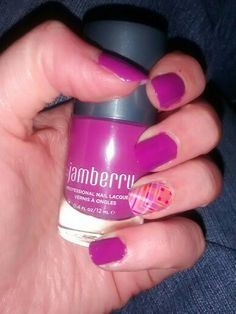 Jamberry isn't JUST about the wraps. They have JAMazing lacquer, too! This is Mulberry lacquer (which I got in the Fairytale Lacquer set, but is available by itself) with Prissy Plaid wrap for an accent. I love how well Jamberry matches the colors between their wraps and lacquers so you don't have to search store after store for just the right shade!