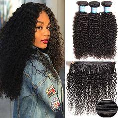 "HAIQUAN Unprocessed 3Bundles/Pack 300g 12""14""16"" Brazilian Virgin Human Hair Bundles 7A Jerry Curly Hair Weft Natural Black Sale:$59.89"