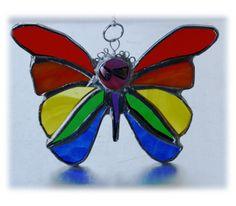 Rainbow Butterfly Suncatcher Stained Glass £11.50