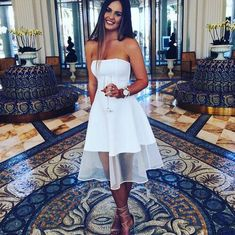 White homecoming dresses,strapless homecoming dress,zipper up evening dress,white dress,knee length a line homecoming dress,2016 new arrival homecoming dress