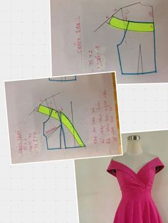 Sewing Pattern / Neckline dress