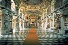 I want to go to all these libraries.  But especially the Admont Benedictine Monastery-Library because that is the one the inspired Beauty and the Beast.