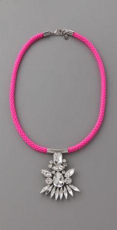 Neon Crystal pendant necklace $88.00 via @Christine Martinez