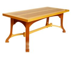 Yellow Cedar and Mahogany Coffee Table