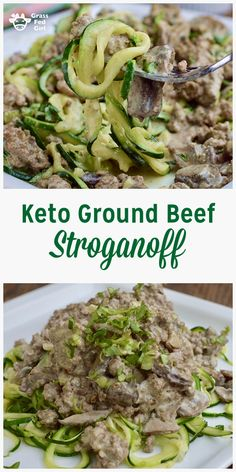 Keto Ground Beef Stroganoff Noodles