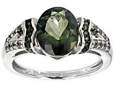 Green Labradorite Sterling Silver Ring 2.39ctw