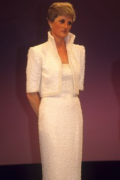 "1989 at the British Fashion Awards. Diana dubbed this her ""Elvis dress""."