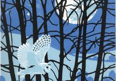 Nick Wonham, Owl (lino and woodcut) - one of the exhibits at Herts Open Studios this year. Linocut Prints, Art Prints, Block Prints, Beautiful Owl, Owl Art, Wood Engraving, Art Images, Watercolor Art, Street Art