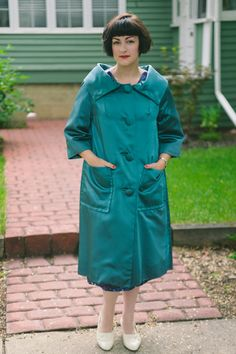 Vintage 1950s Emerald Green Satin Black by MoonRiverMercantile, $145.00