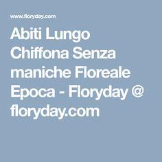 Abiti Lungo Chiffona Senza maniche Floreale Epoca - Floryday @ floryday.com