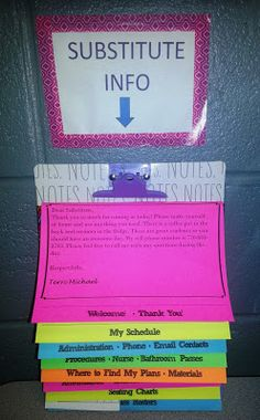 Substitute Information