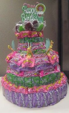 How to Make Candy Birthday Cakes