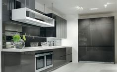 Image result for kitchen with charcoal floor