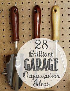 28-Brilliant-Garage-Storage-Organization-Ideas...http://homestead-and-survival.com/28-brilliant-garage-organization-ideas/