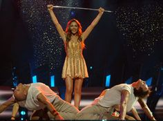 """Helena Paparizou, the winner of the 2005 Eurovision Song Contest (Kiev, Ukraine) for Greece, performing """"My Number One""""."""