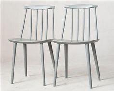 Jørgen Bækmark & Poul M. Volther, sæt af seks forskellige stole: 1 x stol model J 104, 3 x armstol model J 110 & 2 x spisebordsstol model J 77, udstillingsmodeller fremstillet hos HAY fra kollektion FDB. Designet ca. i 1940 / 1960. Stela f massiv bøg, natur hhv. lakeret sort hhv. grå. Mål model  J104:  B. 57 cm, D. 47 cm, H. 73 cm, Sh. 44 cm / model J110: B. 53 cm, D. 60 cm, H. 106 cm, Sh: 44,5 cm / model J77: B. 43 cm, D. 43 cm, H. 79 cm, Sh.: 44,5 cm. Udstillingsmode...