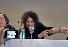 "thatwasthejupitercrash: ""From the Amnesty International Facebook page: "" TATTOO BY ROBERT SMITH At the press conference, asked Robert Smith, leader of The Cure, since when supports AI. He shows off a tattoo with our candle! "" it's a bad translation..."