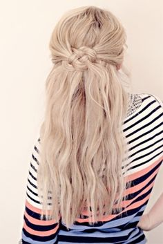 7 Back to #School Hairstyles to Look #Stylish This Year ... → Hair #Ponytail