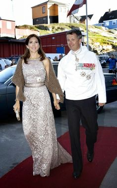 Crown Prince Frederik and Crown Princess Mary attended a official dinner at Hotel Hans Egede in Nuuk.2014