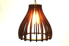 Beru Laser Cut Hanging Lamp Shade by BBWorkshops on Etsy