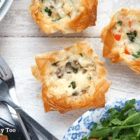 Filo pastry mini quiches - great for kids to make and eat! - A Mummy Too